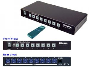 8x1 S-Video switcher ( IR Remote controler)