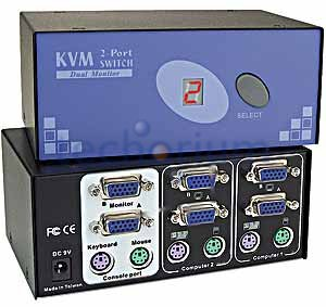 2 port PS/2 KVM Switch - Click Image to Close