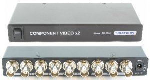 1x2 Component Video(BNC) Splitter