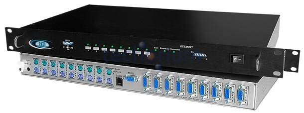 2 port PS/2 KVM Switch with RS232 Control - Click Image to Close