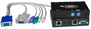 Universal KVM Extender with RS232 via CAT5, extends up to 1000 feet with Local access