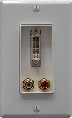 Decora DVI & Stereo Audio Plate w/f Connectors [WP-D-DVISA-PT]