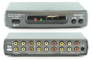 4x2 AUTO Switching Composite Video/Stereo Audio Switch
