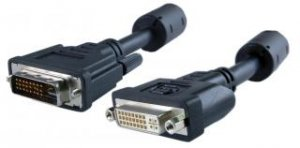 DVI-D Male to DVI-D Female Dual Link Black Cable - 6, 10 feet