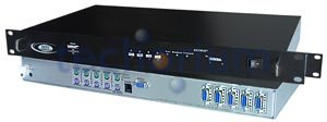 16 port PS/2 KVM Switch with OSD and RS232 Control, rackmount - Click Image to Close