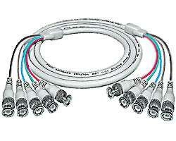 RGBHV coax cable, 5 BNC male-to-male, 6 feet