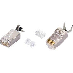 CAT6 Shielded Stranded RJ45 Plug with Cable Clip
