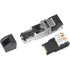 CAT6a Shielded Field Assembly RJ45 Connector, TIA/EIA 568B Termination