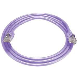 RJ45 male-male, CAT6 purple cable, 5 feet