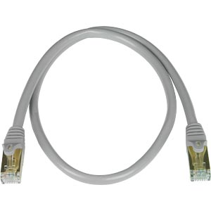 CAT7 Cable or Patch Cord, RJ45 Male to Male, Gray, 100 Feet