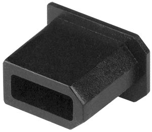 1394 FireWire Female Connector Dust Cover Flush Mount - 10-pack