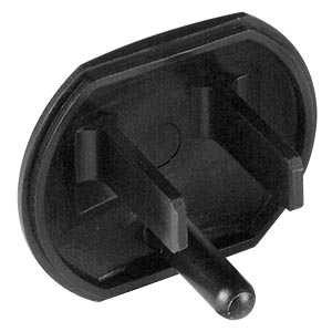 3-Prong Power Outlet Cover, Black, 10-pack