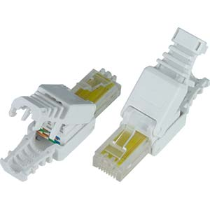 Cat5e tooless rj45 plug with strain relief boot for solid or cat5e tooless rj45 plug with strain relief boot for solid or stranded connectors sciox Image collections