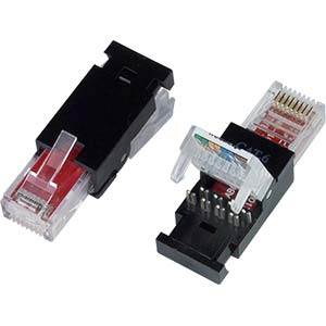 Cat5e tooless rj45 plug for solid or stranded connectors e plg cat5e tooless rj45 plug for solid or stranded connectors sciox Image collections