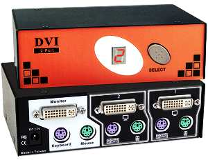 DVI and PS/2 KVM switch, 2 port