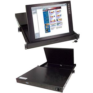 Rackmount LCD monitor in drawer, 15 in. at 1024x768