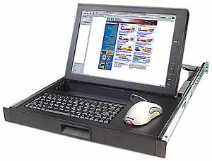 PS/2 KVM drawer with 17 in. LCD and a real mouse