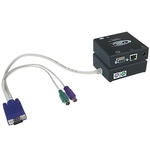 Keyboard, monitor & mouse extender via cat5 with local access, up to 600 feet