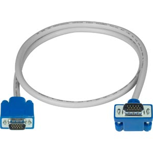 Up Angled to Straight VGA cable, male-to-male, 10 feet